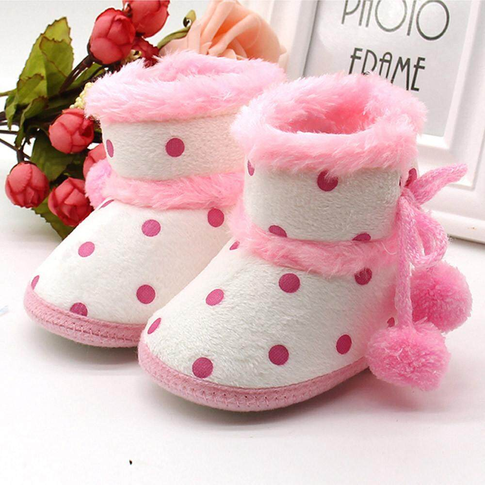 738ee8be700af Cocolmax Baby Girls Boys Soft Booties Snow Boots Infant Toddler Newborn  Warming Shoes