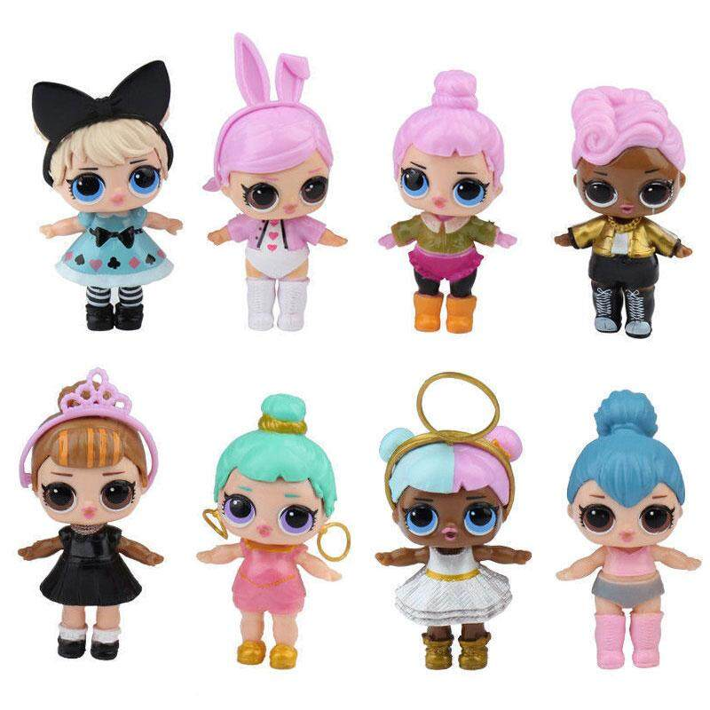 Ybc 8pcs Lol Surprise Dolls 7 Layer Series Kids Children Toy Gifts Plastic Collection By Your Bestchoice.