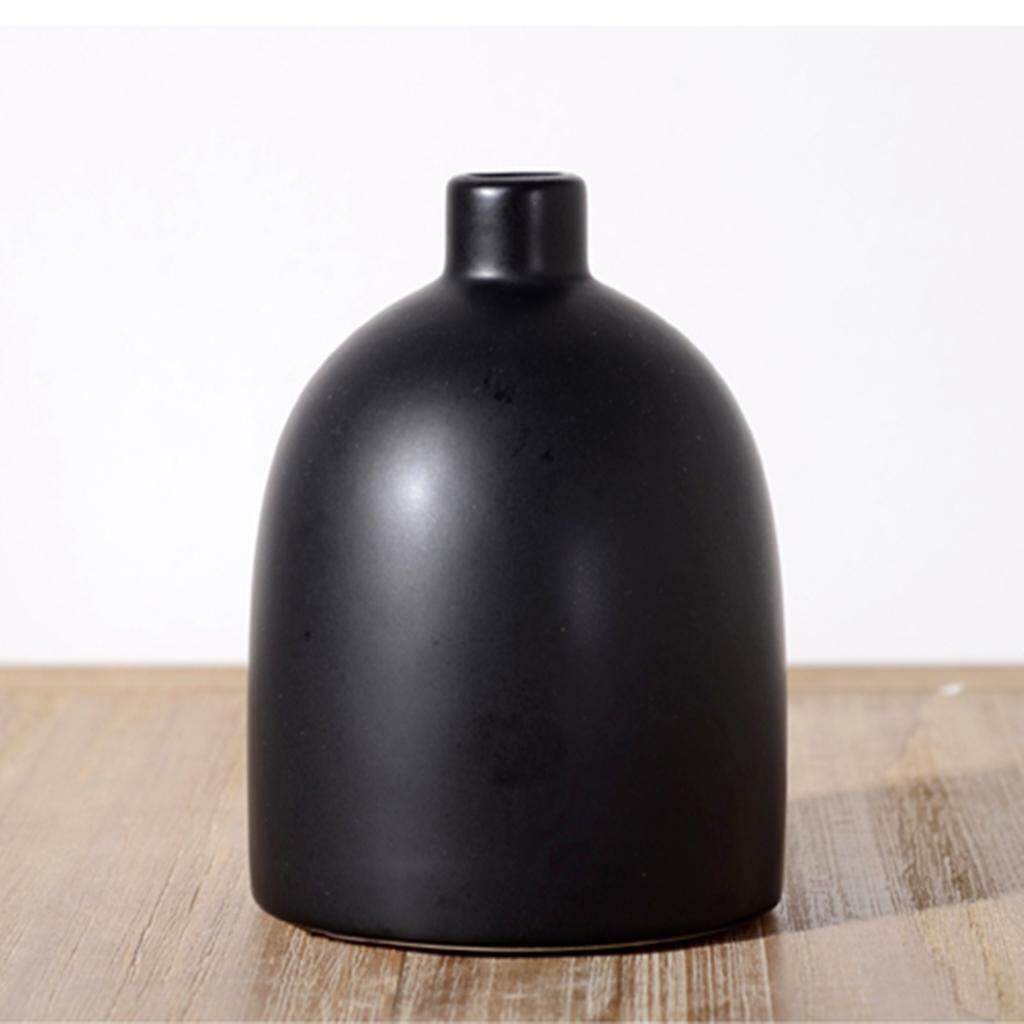 Fitur Fityle Nordic Style Handmade Decorative Ceramic Flower Vase Inner R Shroud Crf 150l 17560k84900 Detail Gambar Tabletop Vases Black Terbaru
