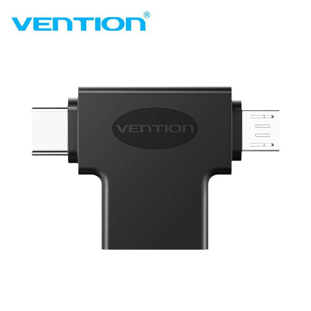 Giá Chính Hãng Vention Cdibo OTG 3 Trong 1 USB3.0 Loại-C Micro USB Thiết Bị USB Adapter Đa Năng
