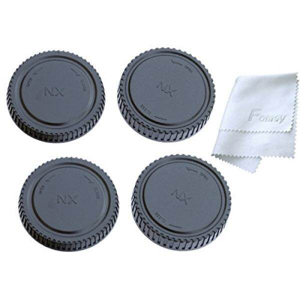 Fotasy Rear Lens Cover and Camera Body Cap Set for Samsung Mirrorless NX Lenses and Camera NX1 NX500 NX3300 NX3000 NX300M NX300 NX2000 NX1000 NX210 NX200 NX30 NX20 NX5 (2 Packs )