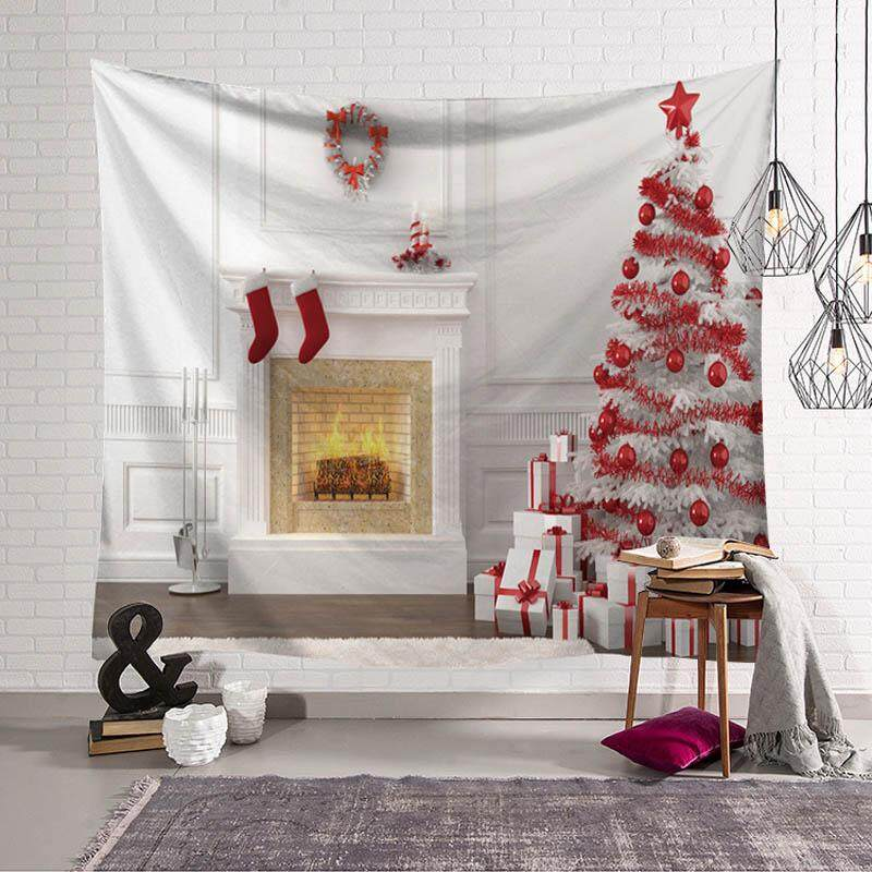 Christmas Wall Tapestry Modern Wall Hanging Fabric Table Cloth Picnic Cloth Home Decor Photo Prop 130x150cm