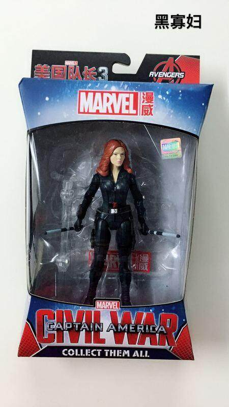 【1602-11 janda hitam】Avengers 3 US Captain Iron Man Model dalam mainan