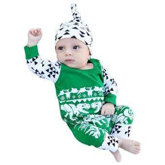 Pencarian Termurah Tideshop Bayi Bayi Baru Lahir Anak Baju Anak Bergambar  Jumpsuit Topi Setelan Natal Pakaian 5235763961