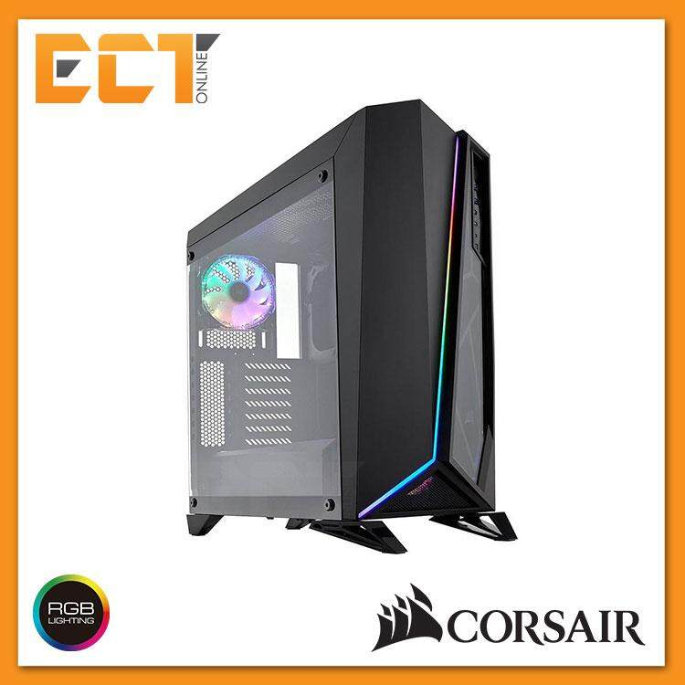 Corsair Carbide Series SPEC-OMEGA RGB Mid-Tower Tempered Glass Gaming Case - White/ Black Malaysia