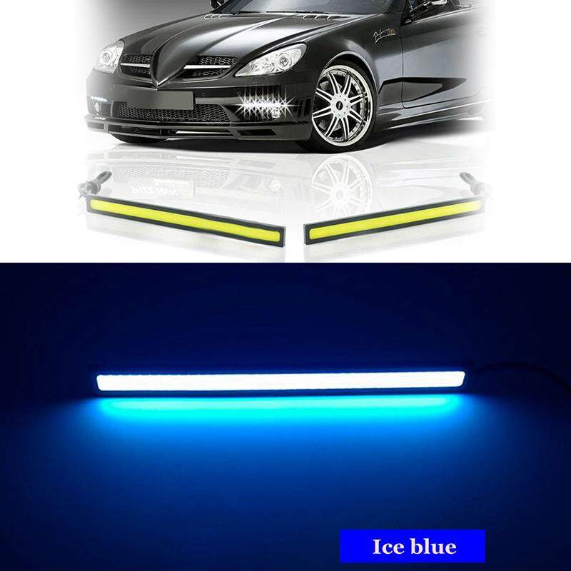 1PIC 17cm COB LED DRL Driving Daytime Running Lights Strip 12V COB LED DRL Bar Aluminum