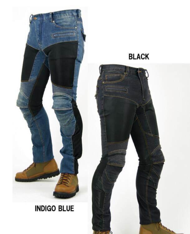 Jepang Baru Pk719 Empat Kuartal Anti Celana Anti-Slip Jala Setengah Musim Panas Celana Jeans Sepeda Motor Celana Balap By Peace Commerce.