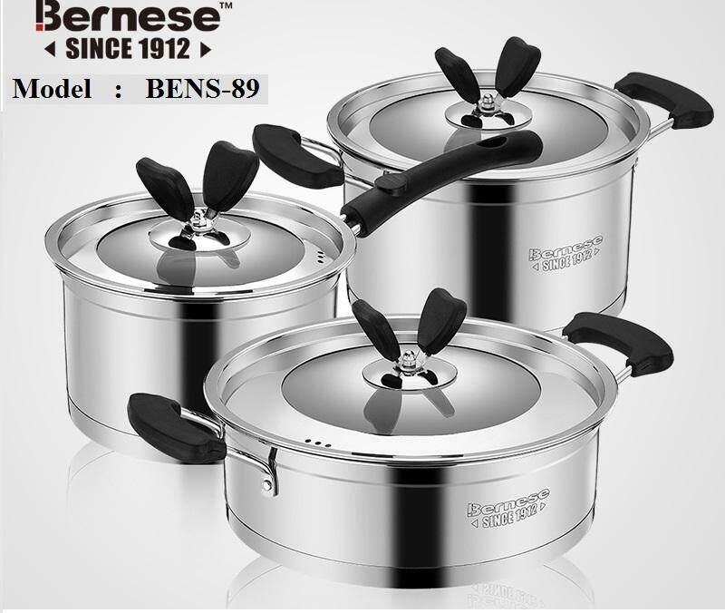 BERNESE STAINLESS STEEL COKWARE 3PCS/SET BENS-89