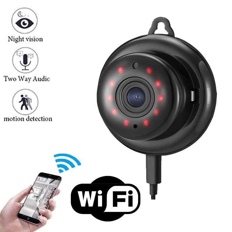 Keamanan Rumah MINI Wifi 720 P Kamera Ip Nirkabel Kecil CCTV Inframerah Modus Malam Deteksi Gerakan SD Slot Kartu Aplikasi Audio