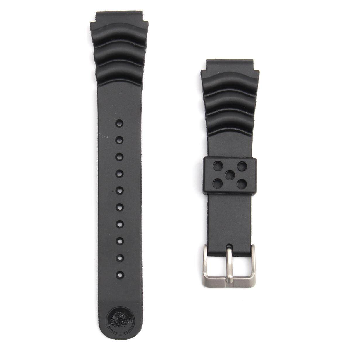 20mm/22mm Black Sport Scuba Diver Rubber Watch Band Strap For Sei Ko [20mm] By Glimmer.