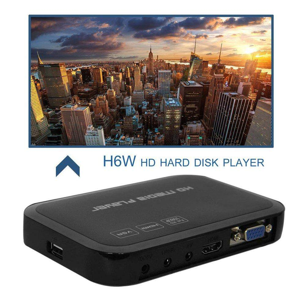 Qnstar Portable Full Hd 1080 P Hdmi Vga Av Usb Hard Disk U Disk Player Rumah Kantor H6w Hitam Au By Qnstar.