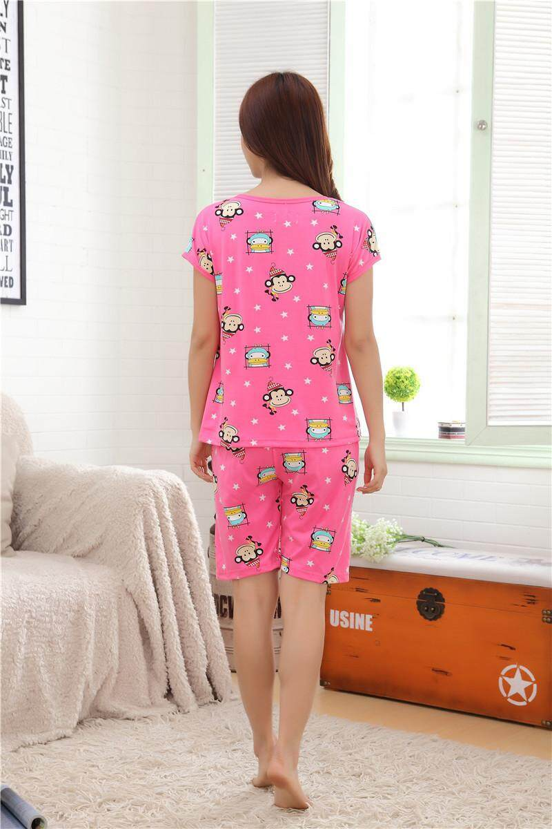 Cutie Colorful Cartoon Pyjamas Set - Colorful Monkey