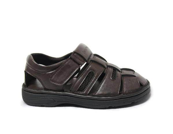 a0ea570c9408 Swiss Polo Gentleman Leather Casual Comfort Sandals 4191 (Coffee)