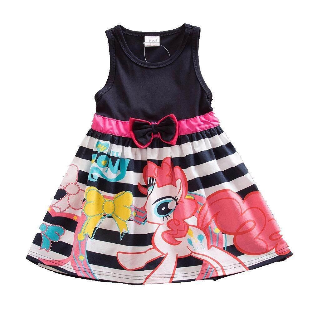 e2ead0d813 New Hot Sale My Baby Girl Dress Children Girl little Pony Dresses Cartoon  Princess Party Costume ...