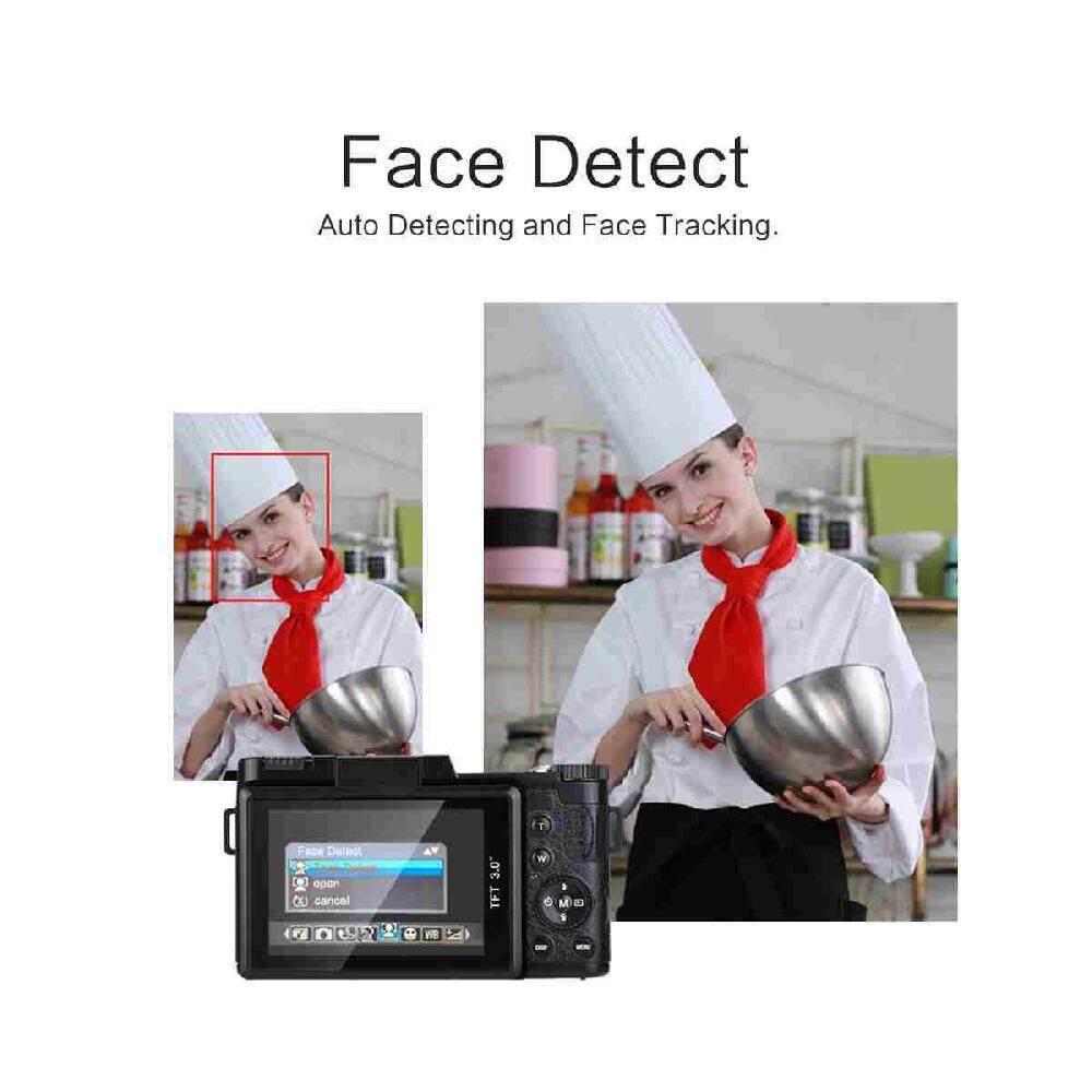 Liyc Kamera Perekam Tangan Penuh HD1080p 24.0MP Camcorder Camcorder Digital 3.0 Inch Flip Layar Kamera dengan Kamera Senter-Intl