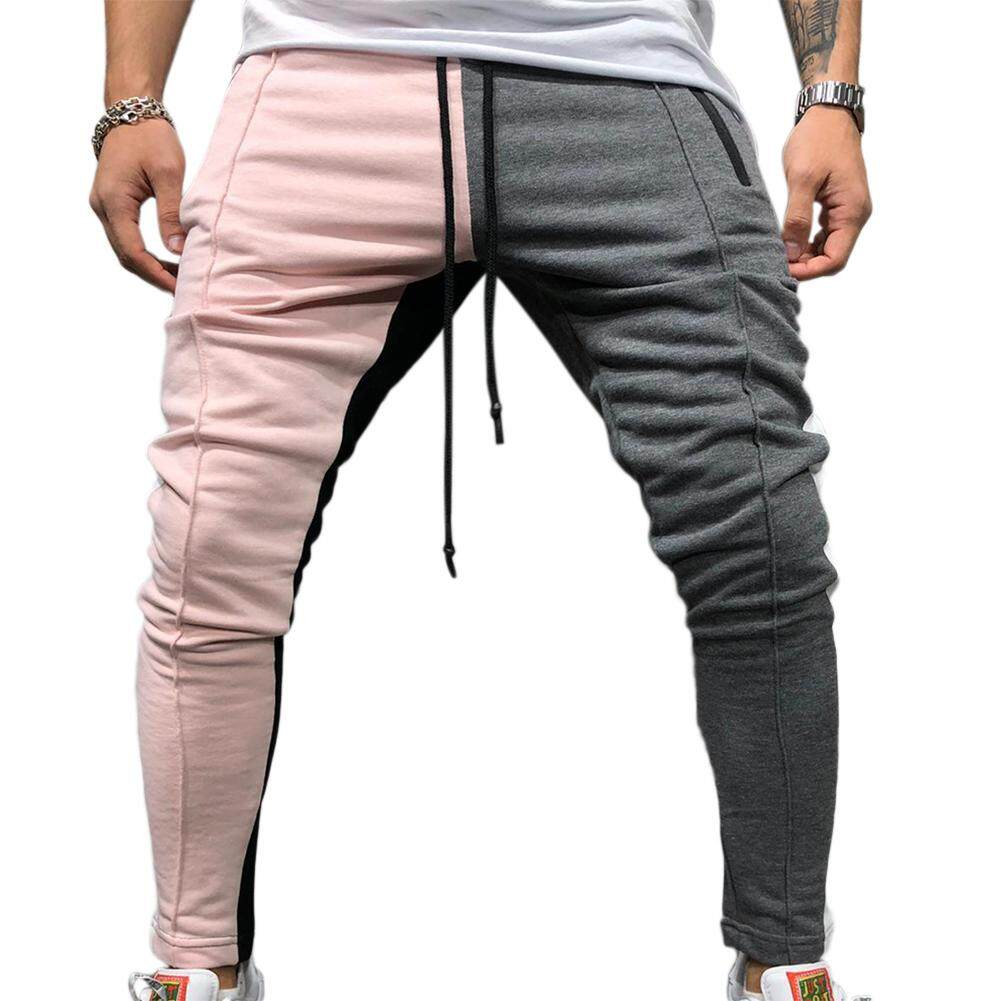 Redcolourful Men Jogger Stadium Gymnasium Colorful Striped Casual Matching Color Pants