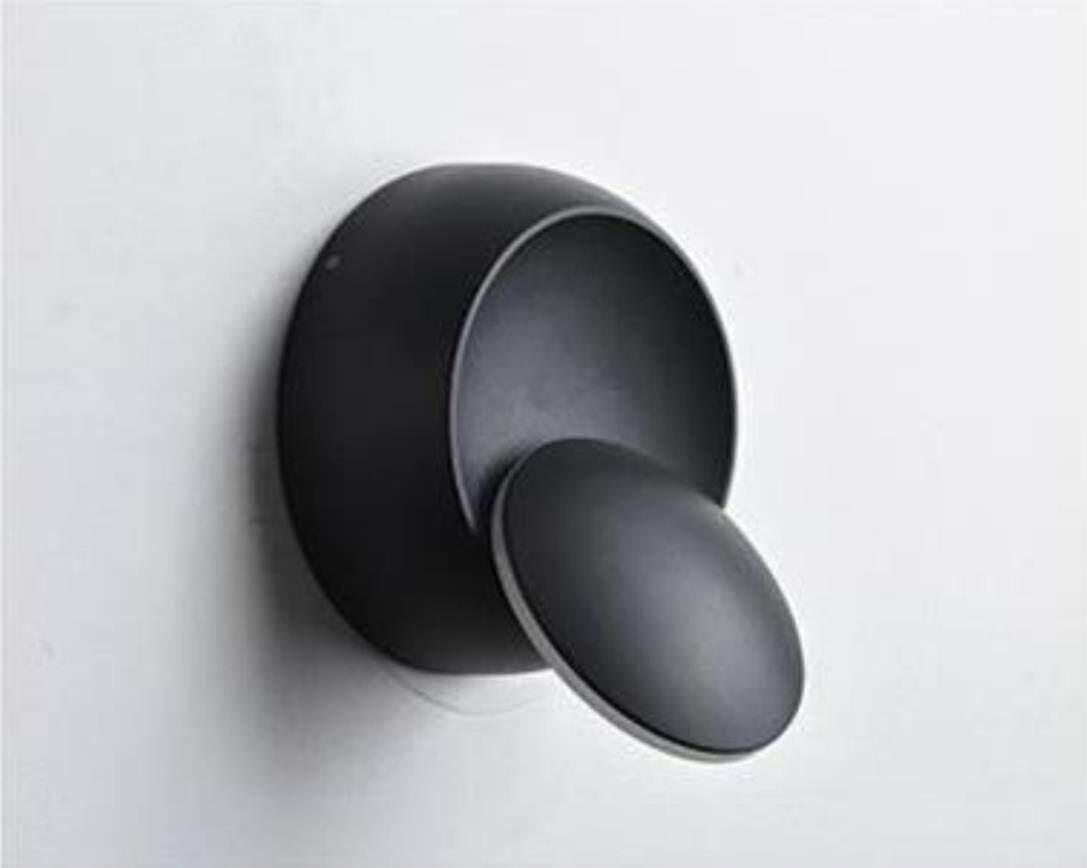 AGWS LAMP Led Wall Lamp 360 Degree Rotation Adjustable Bedside Light 4000k Black Creative Wall Lamp Black Modern Aisle Round Lamp - intl