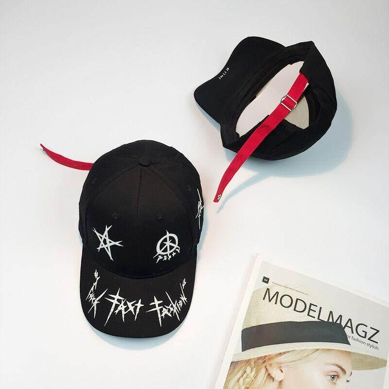 Fan Bingbing Topi Bisbol Cap Bintang Graffiti Pria dan Wanita Topi Pasangan  Visor Hip Hop Cap 79ec4a1429