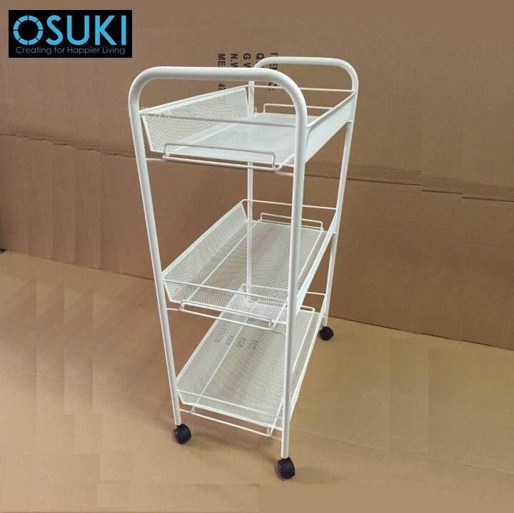 OSUKI Kitchen Trolley Storage Rack (White)