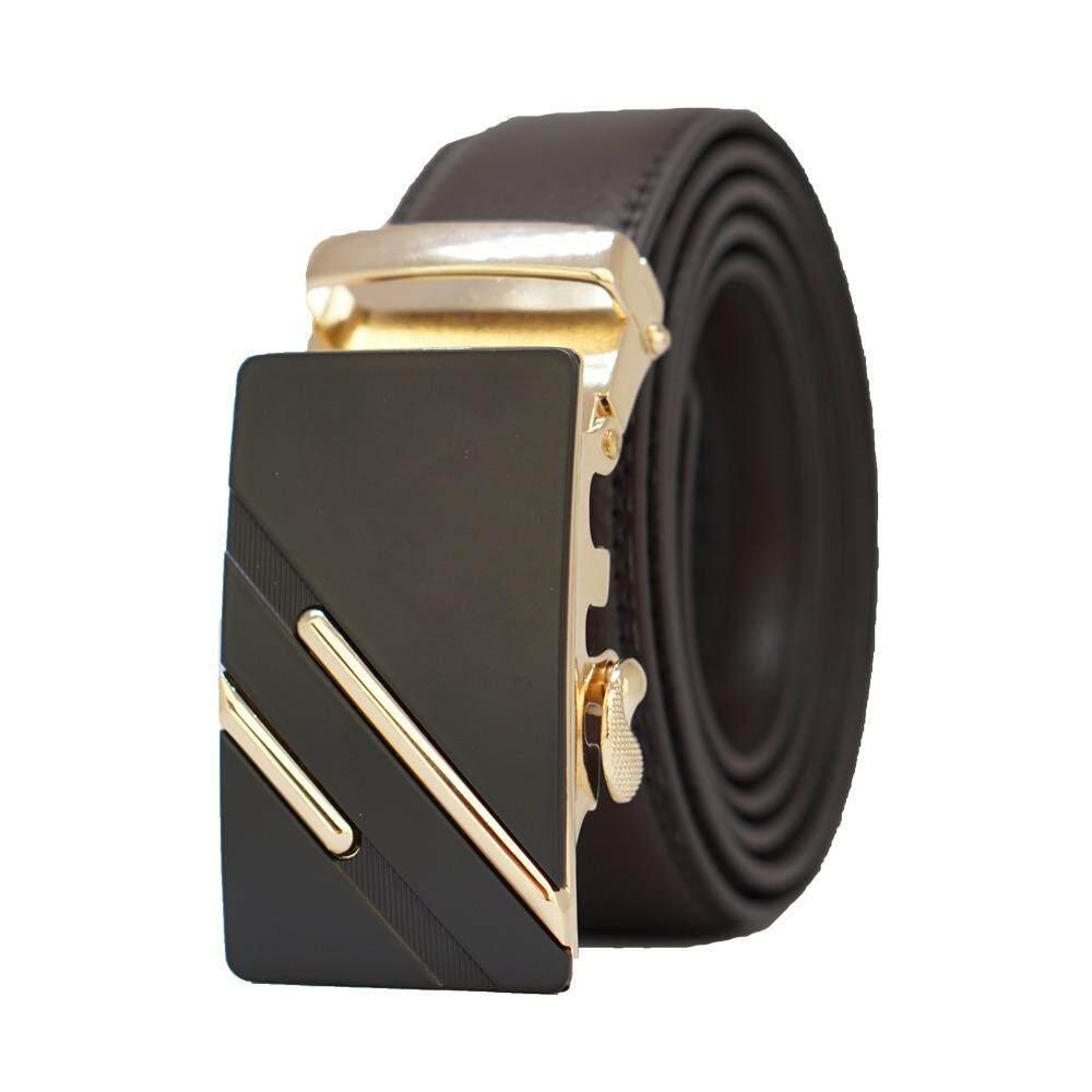 Belt Buckle MB024 Men OOTD Business Formal Leather Belt(Black Strap) - Adjustable Strap for Size S , M , L , XL