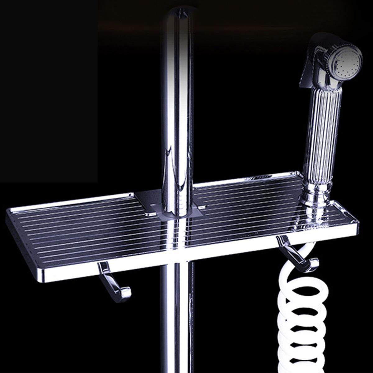 Bathroom Adjustable Bath Pole Rack Shower Caddy Shelf Storage Holder Organizer By Glimmer.