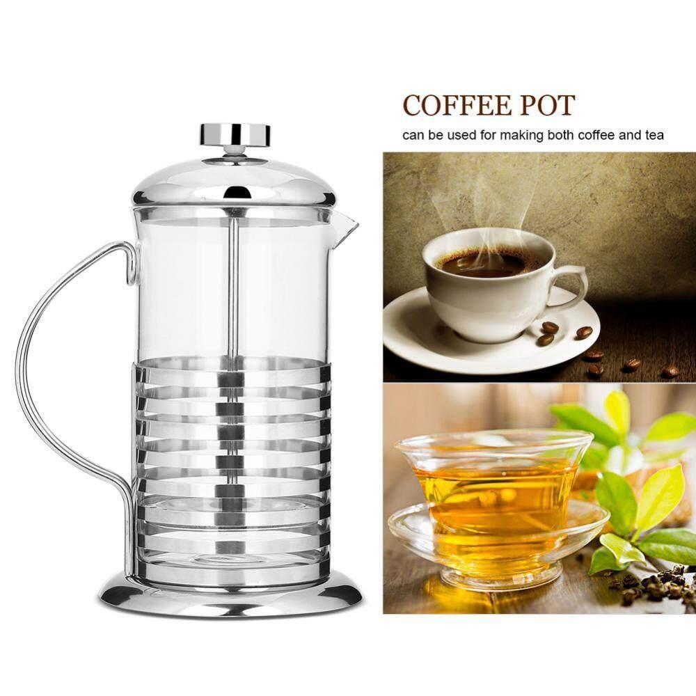 Portabel Anti Karat Kaca French Press Kopi Cangkir Pot Plunger Tea Maker (800 Ml)-Internasional