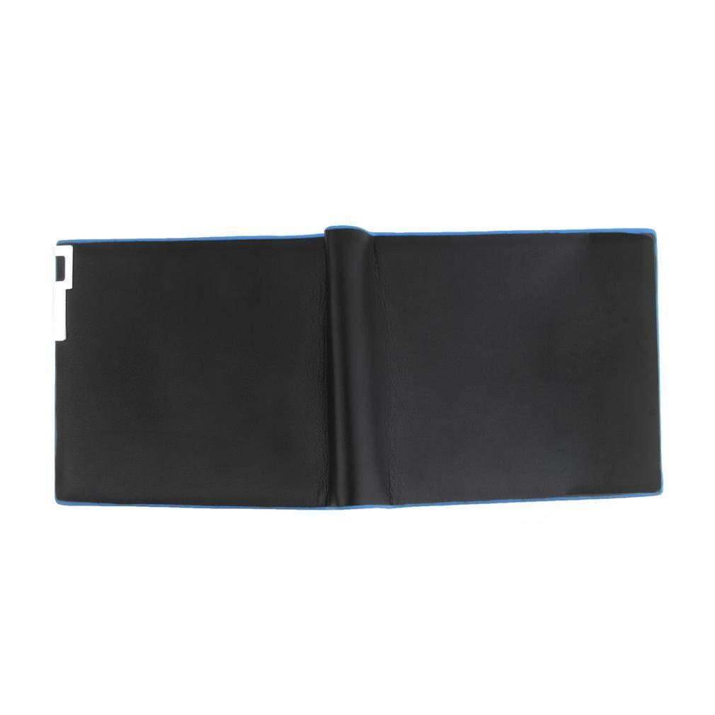 Laki-laki yang modis kulit dingin dompet kartu hitam kopling dompet Bifold uang Cli - 3