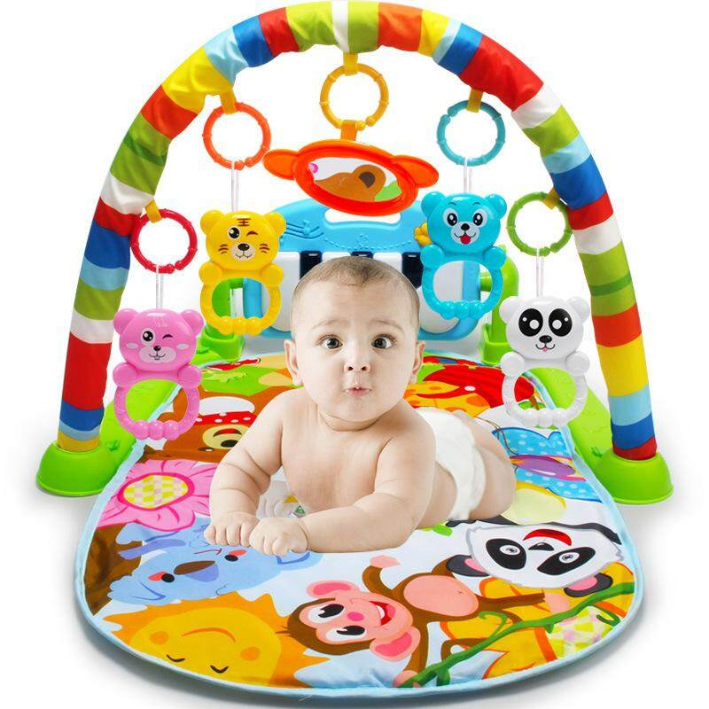 New Multifunction Soft Baby Play Mat Activity Piano Pedal Fitness Frame Music Bed Bell Pay Gym Toy Floor Crawl Blanket Carpet By Darling Baby.