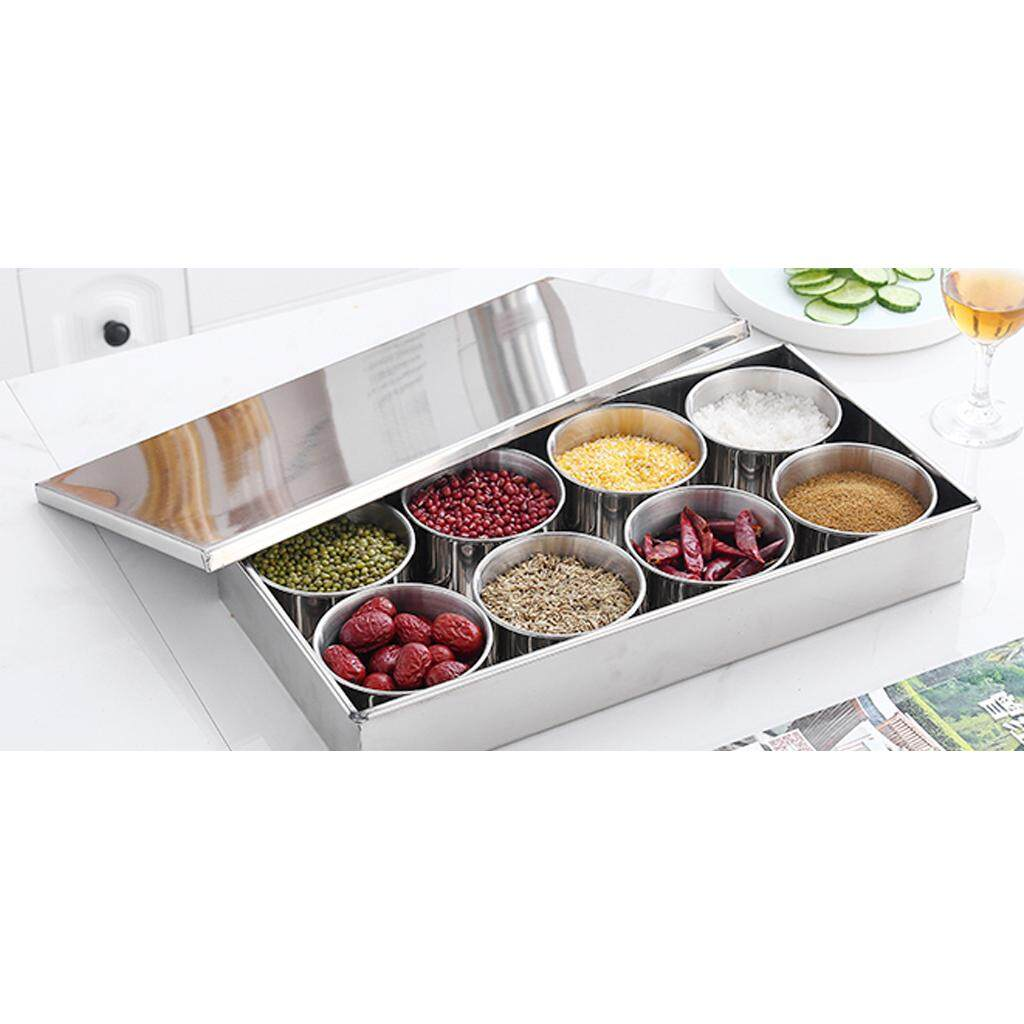 Dolity Seasoning Box Spice Jar Set Condiment Cruet Bottle Condiment Pot 8 Pots