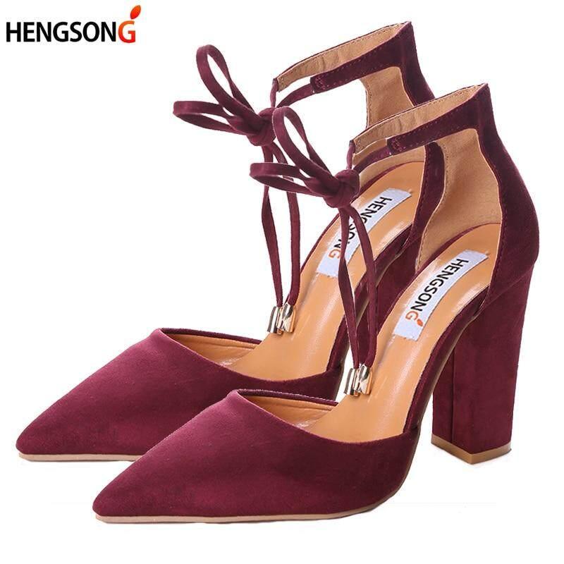 dc391a17c08c High Heels Womens Sandals Flock Shoes Woman Ladies Pumps Sexy Thin Air Heels  Footwear Women Shoes