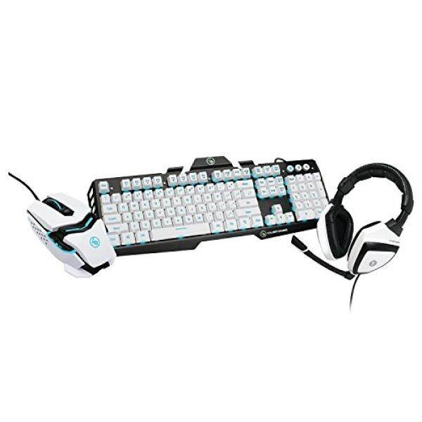 Keyboard & Mouse Combos IOGEAR Kaliber Gaming Imperial White Edition Gamer Pack, GKMHKIT1E - intl