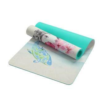 Harga preferensial Rojey TPE Bahan Anti-Slip Desain Polka Dot Anti-Slip Matras Yoga Suede beli sekarang - Hanya Rp249.150