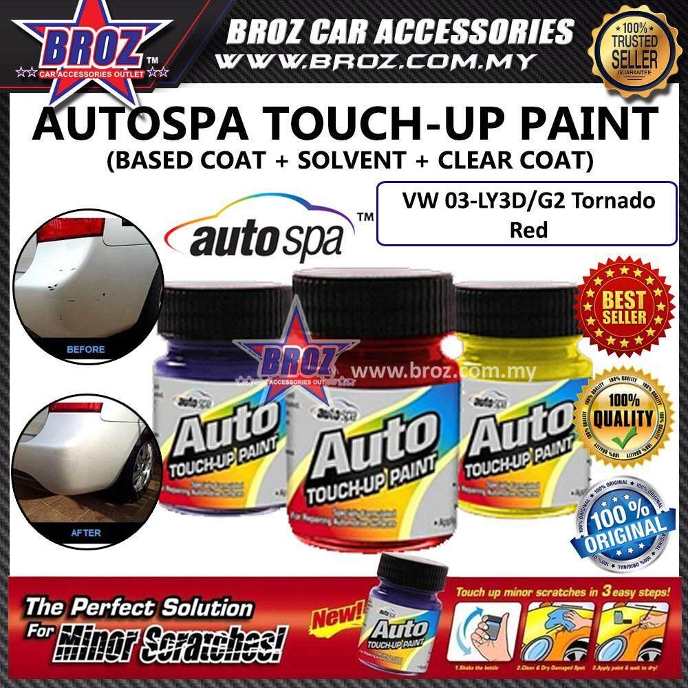 AUTOSPA Touch Up Paint Volkswagen 3pcs/Set (Base Coat + Solvent + Clear Coat)