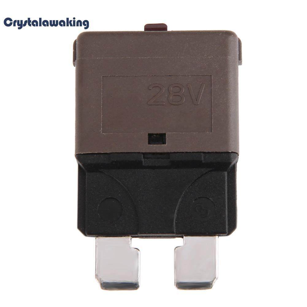 Dc 28v 7.5a Manual Reset Circuit Breaker Blade Fuse With Button For Car Boat By Crystalawaking.
