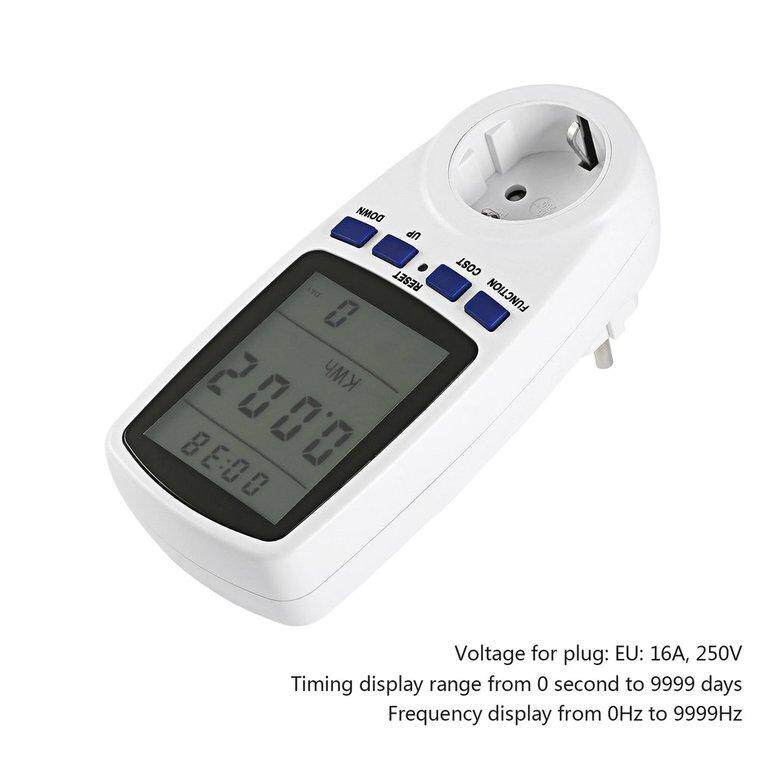 Uni Eropa Plug LCD Watt Arus Listrik Tegangan Monitor Analisis Meteran Energi