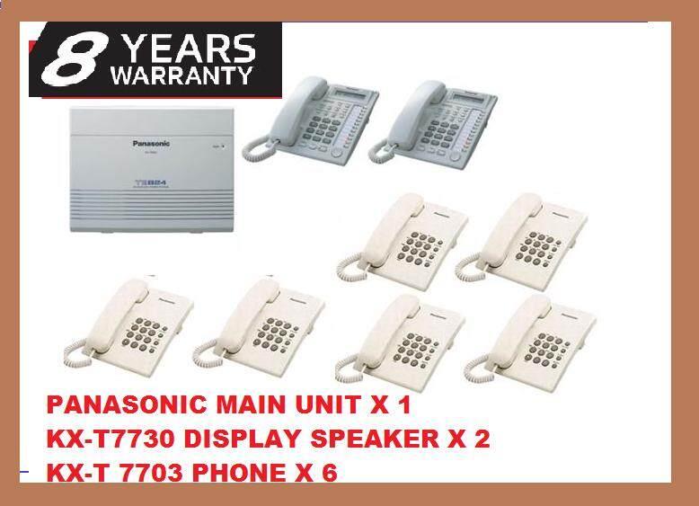 FULL SET PANASONIC KX-TES824 HYBIRD KEYPHONE SYSTEM ( 8 YEARS WARRANTY )