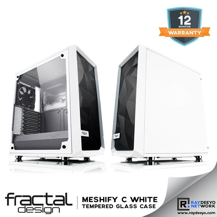 Fractal Design Meshify C White Tempered Glass Chassis [ATX, Matx, Mini-ITX] Malaysia