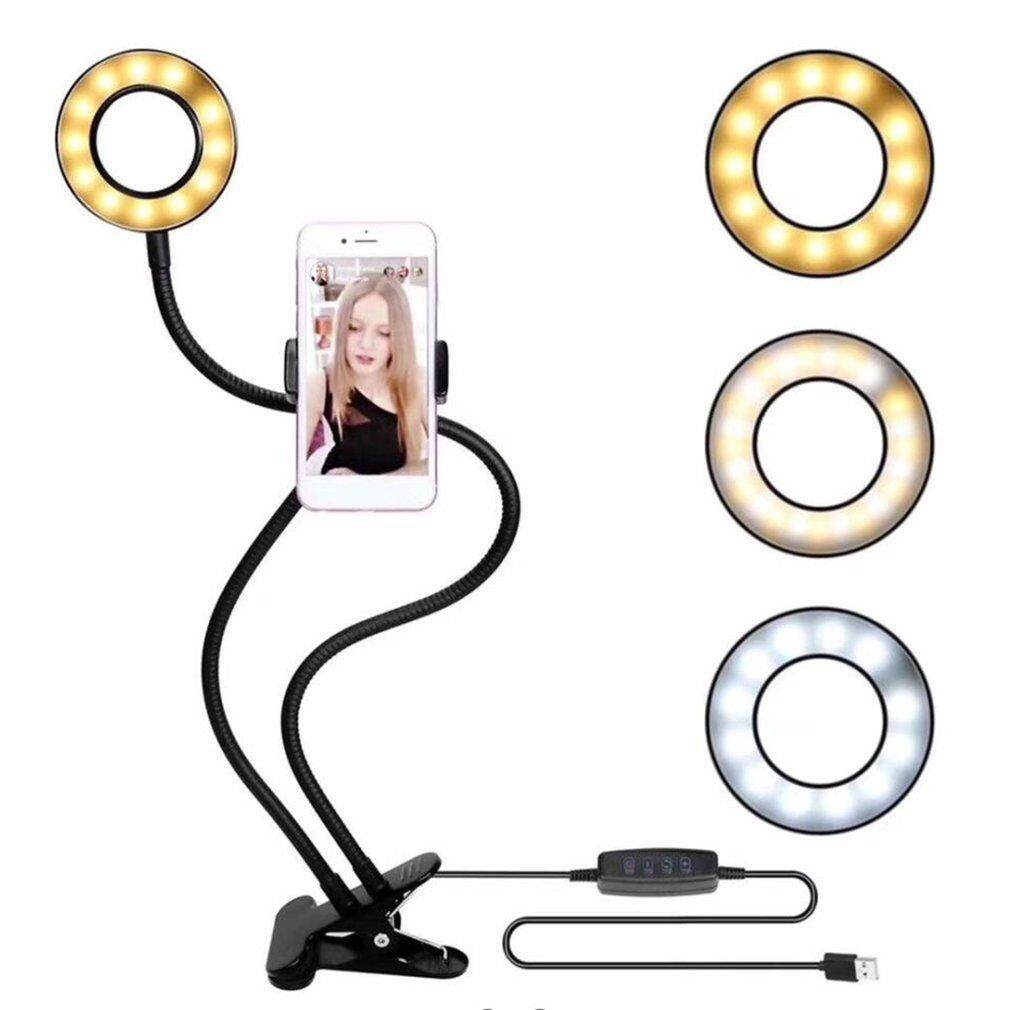 OSMAN USB Charging Power LED Selfie Ring Filling Light With Mobile Phone Clip Holder