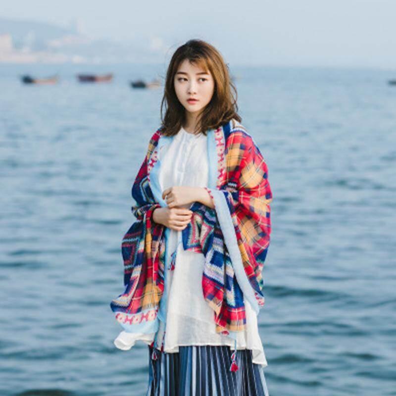 LB Women Beach Desert Sun-screen Scarf Tippet Festival Gift Size:190*65cm