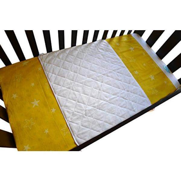 Iluvbamboo Bayi Crib Anti-Air Bambu Lembar Saver-Pelindung Pelindung Lembut Alas dengan Ikatan Panjang untuk Bayi Kasur. Nikmati Ketenangan Pikiran Saat Bayi Anda atau Kembar Bayi Tidur-Lebih Besar dari Boks Lainnya Bantalan-Internasional