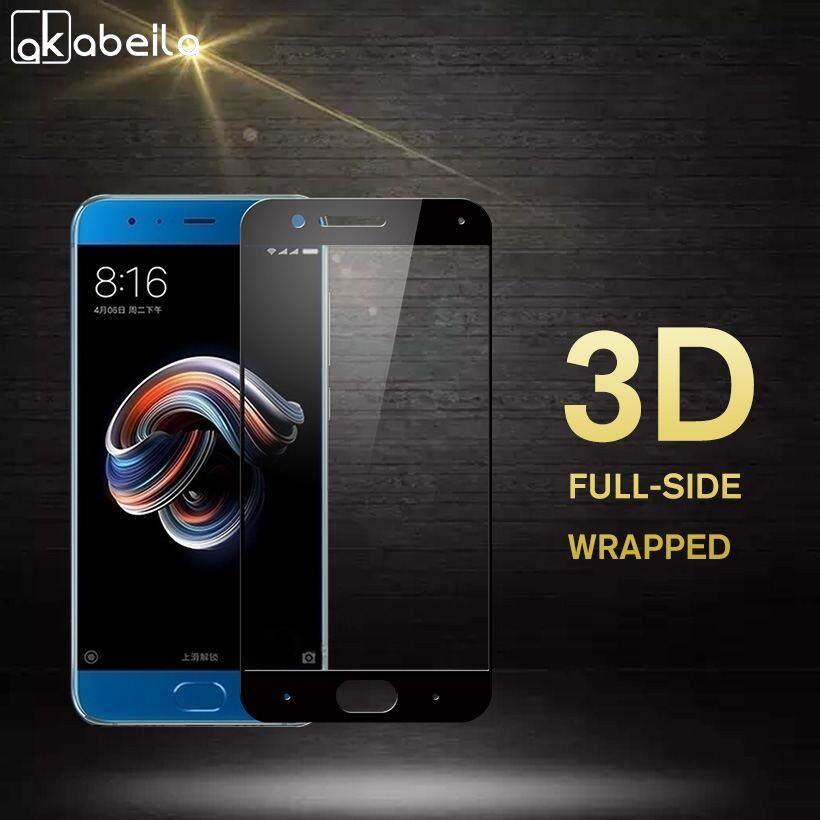 Akabeila 2 Pcs Smartphone 3D Kaca Kokoh untuk Xiaomi Mi Note 3 Xiao Mi Note 3