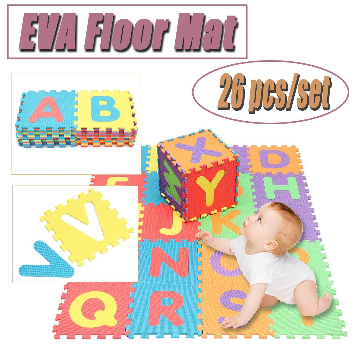Hình ảnh 26 X Soft Foam EVA Floor Mat Jigsaw Tiles Interlocking Play Kids Baby Puzzle HOT - intl