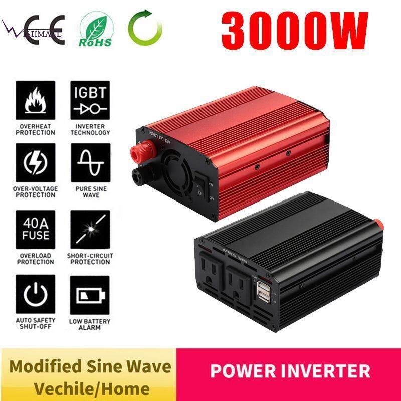 Wishmall Solar Inverter Car Inverter Converter Power Inverter Aluminium Alloy