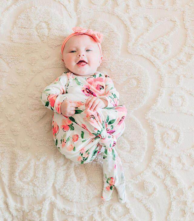 RHS Online Fashion Printing Style Newborn Baby Swaddle Blanket + Headband Hair Band Set - intl