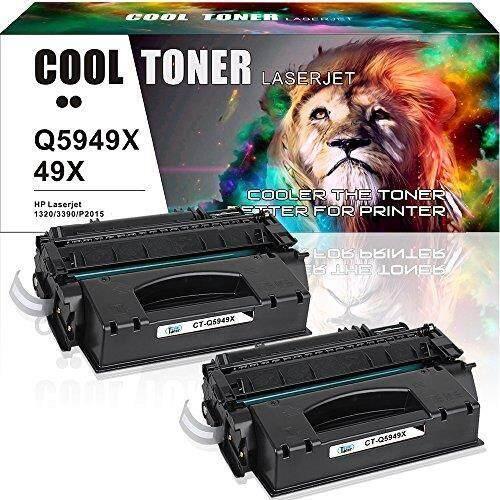 Cool Toner Compatible for HP 49 X 53X Q5949X Q7553X Toner for HP LaserJet P2015 P2015dn 1320 1320n M2727nf Toner Cartridge HP Laserjet 3390 P2015d 1320tn 3392 M2727nfs MFP Printer ink -2 Pack - intl