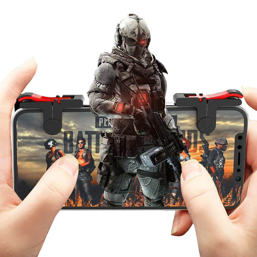 Leegoal [upgraded Version] Mobile Game Controller - Sensitive Sho And Aim Triggers For Pubg/rules Of Survival - L1r1 Mobile Game Trigger Joystick Gamepad For Android Iphone By Leegoal.
