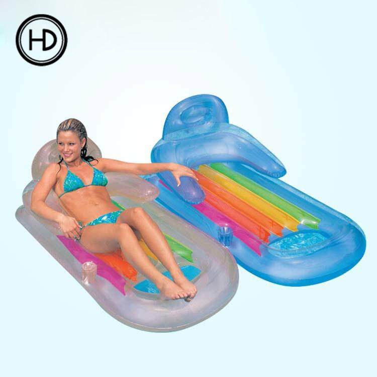 Sensible Swimming Pool Lounge Float Bed Chair Pvc Floating Water Hammock Float Lounger Inflatable Floating Bed Beach Online Shop Sports & Entertainment