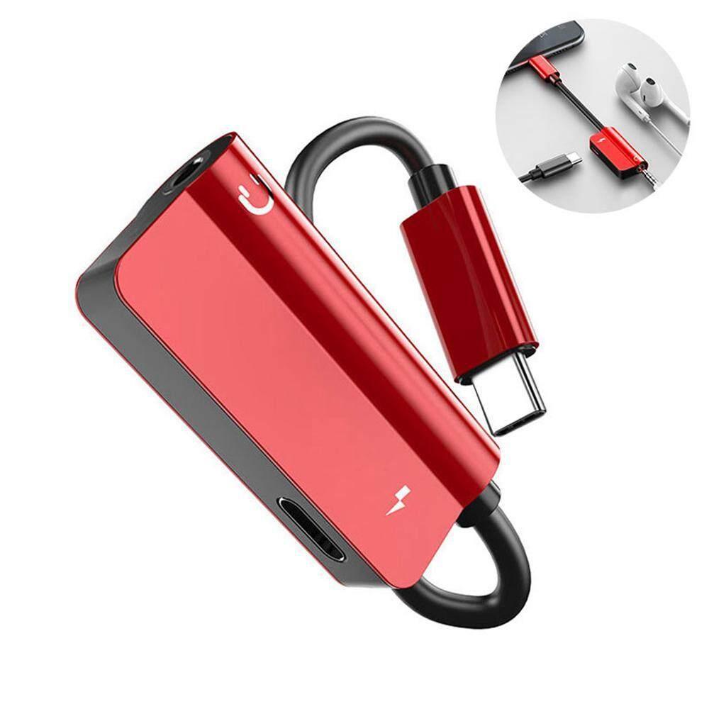 Goodgreat Usb Adaptor Headphone, 2 In 1 USB Tipe C Kabel CAS Cepat untuk 3.5