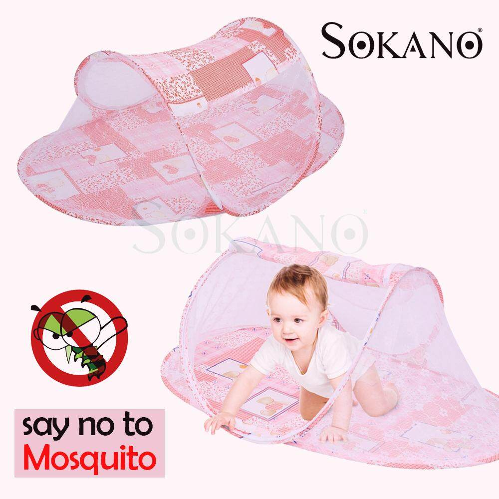 (RAYA 2019) SOKANO Folding Baby Kids Mosquito Net Kelambu Khemah Tent Infant Mattress Mat Bed
