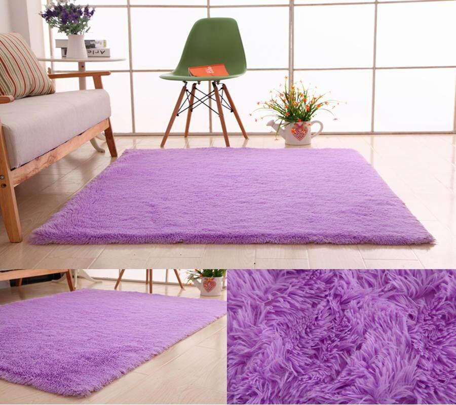 Yuchen Premium Buatan Spons Wol 40*60 Cm Shaggy Anti-Karpet Anti Geser Karpet